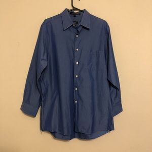 DKNY blue mens long sleeved shirt